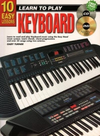 10 Easy Lessons Keyboard Book + Cd & Dvd