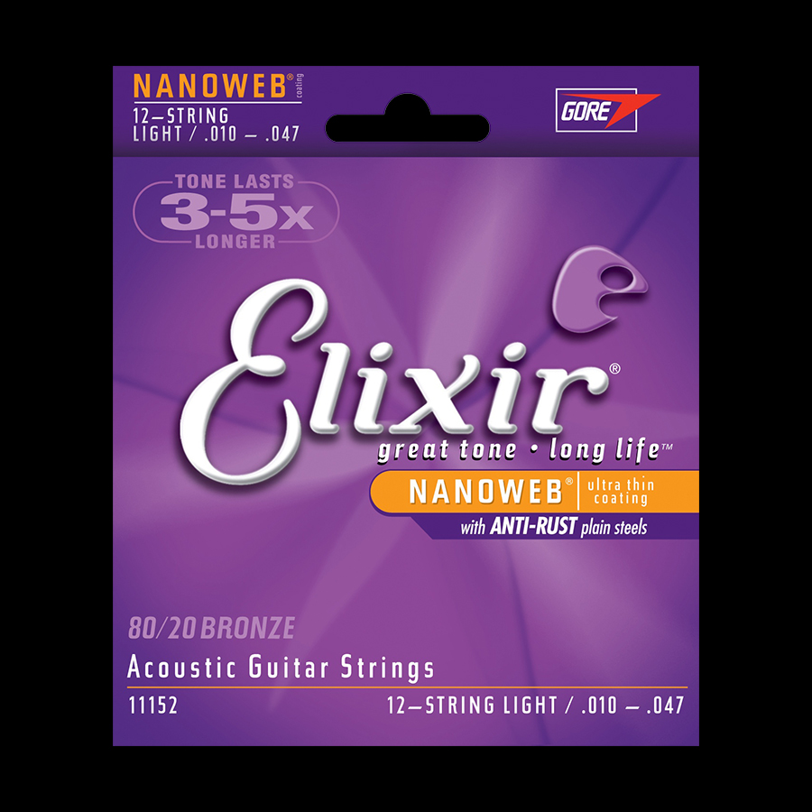 Elixir 80/20 Bronze 12 String Light