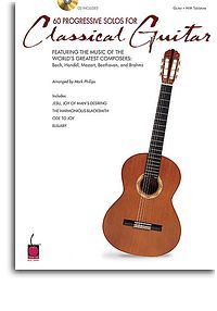 60 Progressive Solos For Classical Guitar Book and CD