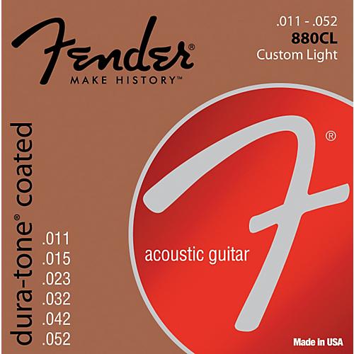 Fender 80/20 Dura-tone Coated Acoustic Strings Custom Light