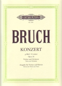Bruch Concerto in G minor Op. 26 for Violin and Piano