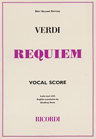 Verdi Requiem Vocal score (Ricordi)