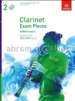 AB Clarinet Exam Pieces 2014–2017, Grade 2, Score, Part & CD