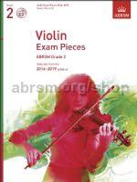 AB Violin Exam Pieces 2016–2019, ABRSM Grade 2, Score, Part & CD