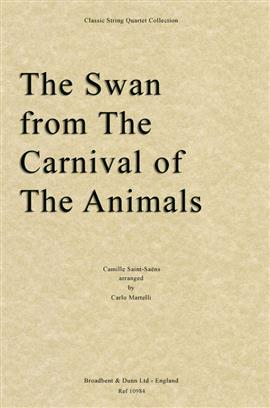 Swan, The from Carnival of the animals by Saint-saens for string quartet. Score only