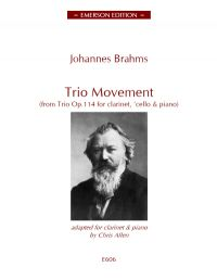 BrahmsTrio Movement from op114 clt and piano