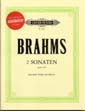 Brahms 2 Sonatas for Clarinet in Bb or Viola with CD