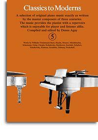 Classics to Moderns Piano book 5