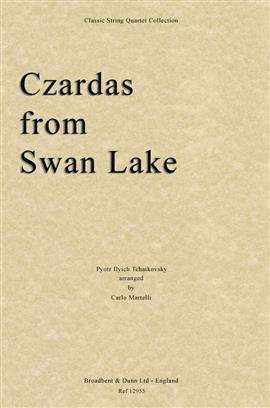 Czardas from Swan Lake for string quartet. Score only