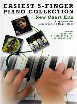 Easiest 5 finger piano collection New Chart Hits