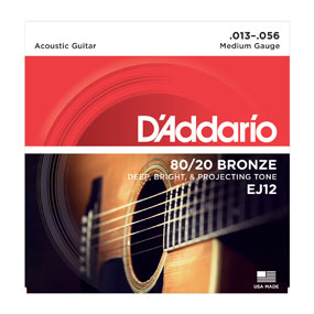 D'addario 80/20 Bronze EJ12 Medium Gauge