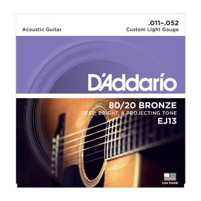 D'addario 80/20 Bronze EJ13 Custom Light Gauge