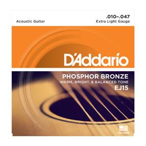 D'Addario Phosphor Bronze EJ15 Extra Light