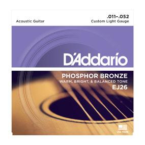 D'Addario Phosphor Bronze EJ26 Custom Light