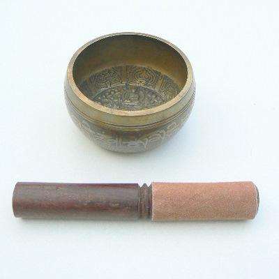 Tibetan Singing Bowl - Etched 4 Inch