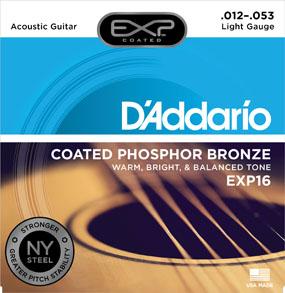 D'Addario Coated Phosphor Bronze EXP16 Light Gauge
