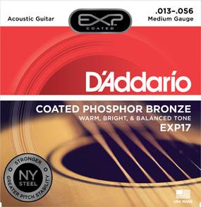 D'Addario Coated Phosphor Bronze EXP17 Medium Gauge