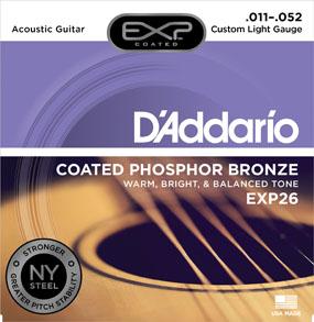 D'Addario Coated Phosphor Bronze EXP26 Custom Light Gauge