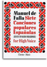 Falla Manuel de Seven Spanish Folksongs High voice