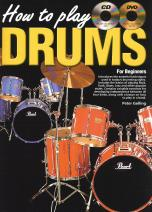 How to Play Drums Book with CD and DVD