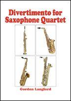 Langford, Gordon - Divertimento for Saxophone Quartet SATBari