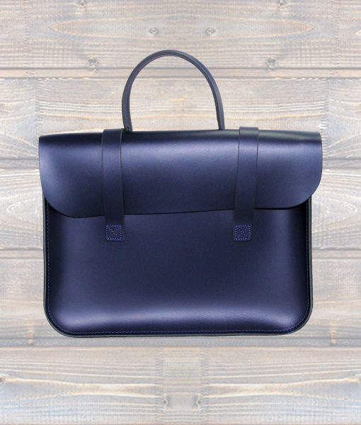 Music Case Leather Navy Blue (Leathergraft)