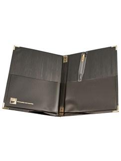 Pure Tone Choir Folder, Black, Large, with pen