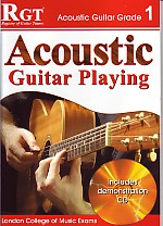 RGT Acoustic Guitar Playing grade 1 book-cd