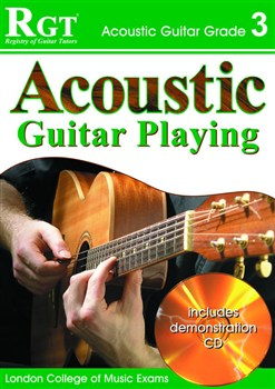 RGT Acoustic Guitar Playing grade 3 book-cd