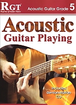 RGT Acoustic Guitar Playing grade 5 LCM book & CD