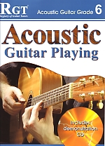 RGT Acoustic Guitar Playing grade 6 LCM book & CD