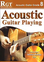 RGT Acoustic Guitar Playing Grade 8 LCM Book & CD