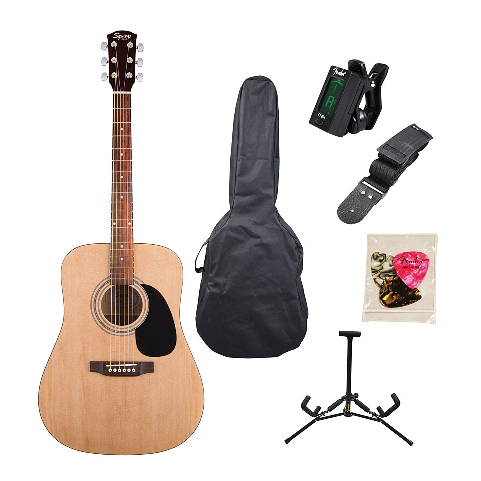 Squier Acoustic guitar SA-105 - Package- Natural