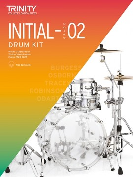 Trinity Drum Kit Exam 20-23 Initial to Grade 2 Book & CD