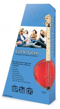 Gold Tone - Little Gem (Ruby)