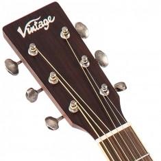 Vintage V300 Acoustic Folk Guitar Outfit - Antiqued