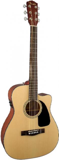 Fender CF-60CE Folk Cutaway - Natural