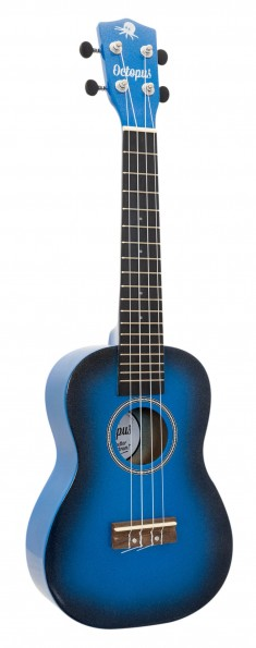 Octopus concert Ukulele - Burst Series - Dark Blue Burst