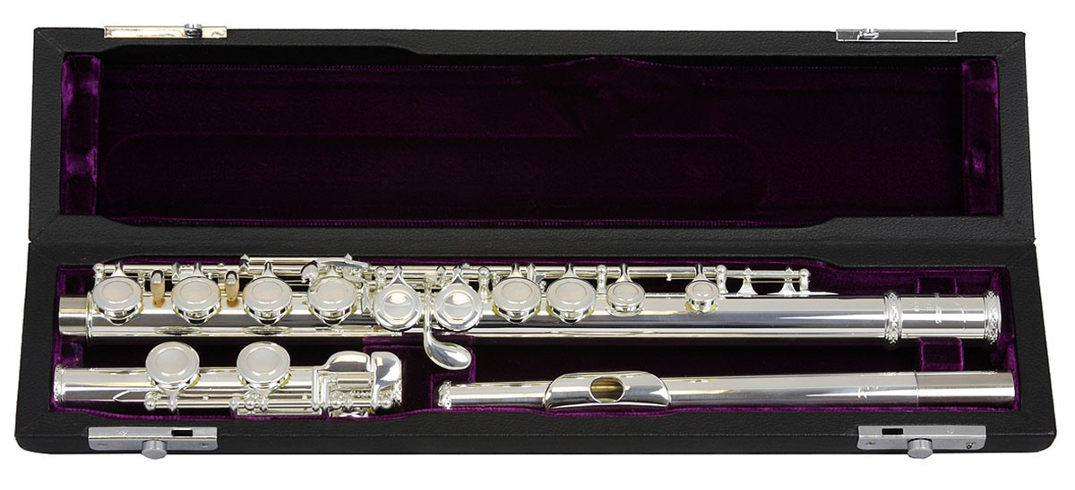 Trevor James Flute Model 10X with 925 silver lip plate, Outfit to Rent or Buy