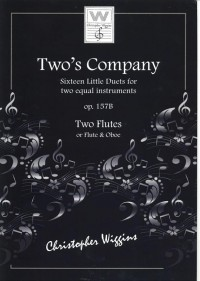 Two's Company op157b for two Flutes or Flute & Oboe Wiggins