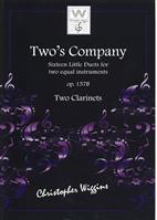 Two's Company Op.157b for Two Clarinets Christopher Wiggins