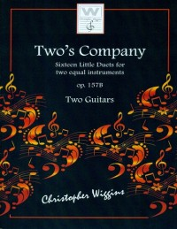 Two's Company op.157b for Two Guitars by C. Wiggins