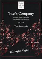 Two's Company op.157b for Two Trumpets by C. Wiggins