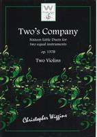 Two's Company op.157b for Two Violins by C. Wiggins