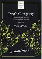 Two's Company op.157b for Violin and Viola C. Wiggins