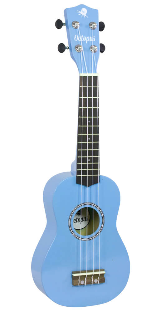 Octopus Soprano Ukulele - High Gloss Series - Surf Blue