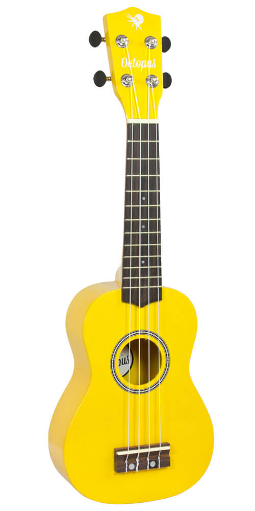 Octopus Soprano Ukulele - High Gloss Series - Yellow