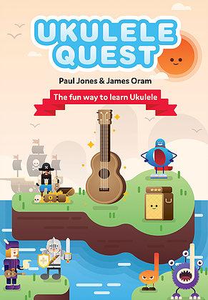 Ukulele Quest by Paul Jones & James Oram Book & download audio