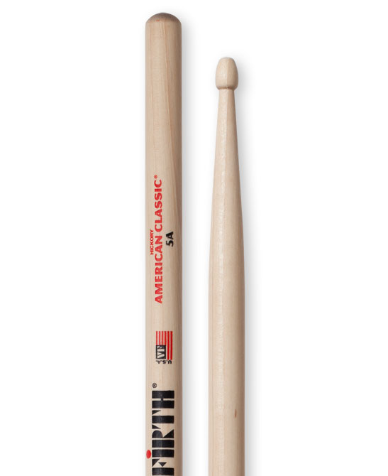 Vic Firth American Classic Hickory Drum sticks wood tip 5A