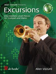 Vizzutti Excursions - Intermediate level pieces for Trumpet & piano Book & CD